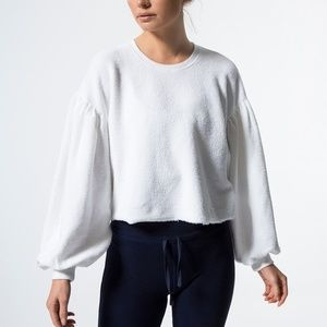 Free people Sleeves Like These M White Sweater